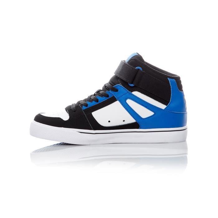 Baskets montantes pour enfant DC Spartan EV Noir-Blanc-Bleu IBk9WLA