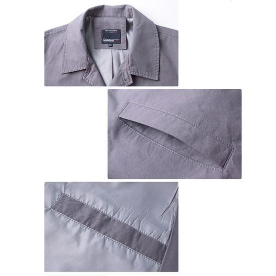 De Longue Revers Masculin Uni A Mode Vêtement Homme La Manteau Yq4gw