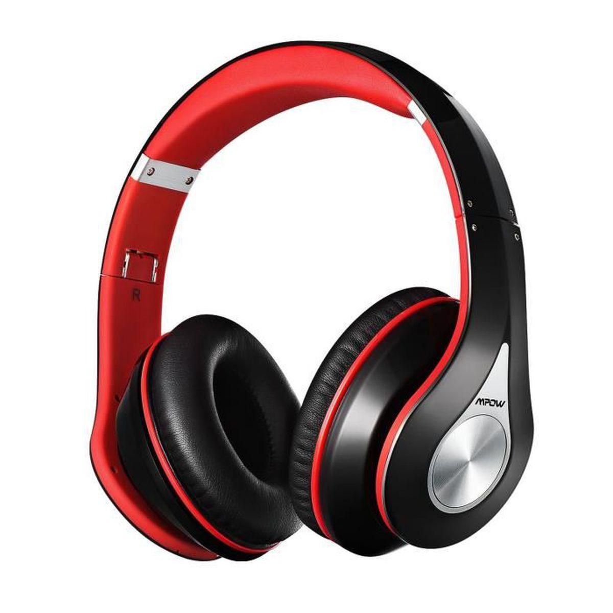 Mpowcasque Bluetooth Sans Fil Casque Audio Mp3 Lecteur écouteurs