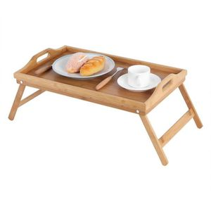 PLAT DE SERVICE Plateau de lit en bois portatif Table pliante Plat