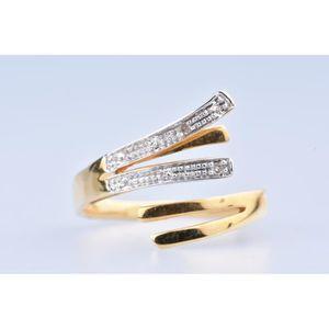 BAGUE - ANNEAU Bague en Or jaune 18 ct  (750/1000) 2 Diamants