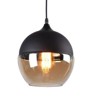 LUSTRE ET SUSPENSION Style moderne 1 lumière noire Sphère verre pendent beb2cf1c9d5f