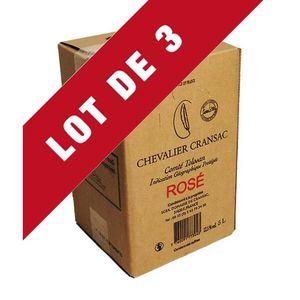 VIN ROSÉ 3X Bag-in-Box 5L Chevalier Cransac Rosé VDP Comté