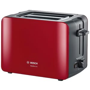 GRILLE-PAIN - TOASTER BOSCH TAT6A114 Grille-pain ComfortLine – Rouge