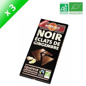 CONFISERIE DE CHOCOLAT ALTER ECO Chocolat Noir Eclats de Gingembre Bio 10