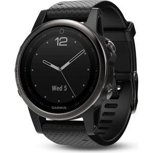 MONTRE CONNECTÉE GARMIN fenix 5S Sapphire Black avec bracelet noir