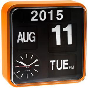 HORLOGE - PENDULE Horloge Murale MINI FLIP - Orange