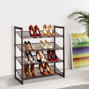 MEUBLE À CHAUSSURES LANGRIA 4-Tier Meuble à chaussures pour 16 paires