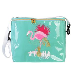SAC ISOTHERME Sac isotherme 'Tropical' turquoise (flamant rose)
