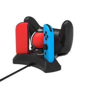 DOCK DE CHARGE MANETTE Dock Socle Station De Charge Pour Nintendo 4 en 1