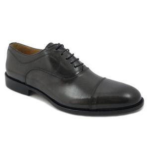 RICHELIEU Exton chaussure Homme élégant  en cuir gris foncé,