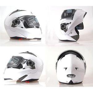 CASQUE MOTO SCOOTER Blanc M-XXL casques de moto anti-poussière