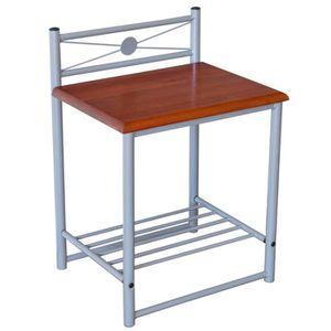 table de chevet de 35cm achat vente table de chevet de 35cm pas cher cdiscount. Black Bedroom Furniture Sets. Home Design Ideas