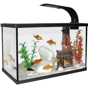 AQUARIUM Aquarium Scalaire 40 Noir 20L + Eclairage