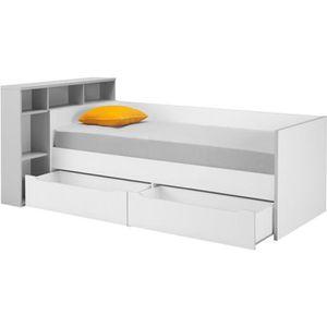 lit combine 2 places achat vente pas cher. Black Bedroom Furniture Sets. Home Design Ideas