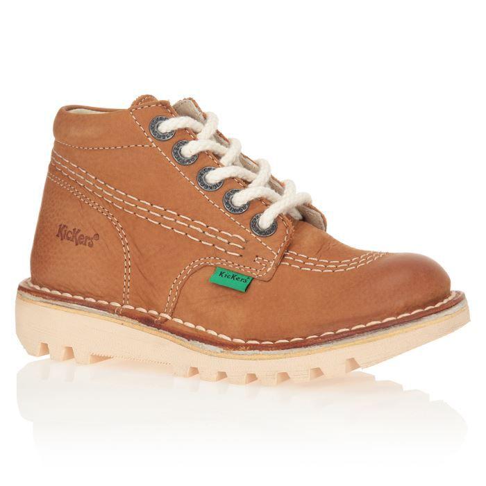 62b635336f151 KICKERS Bottines Neorallye Chaussures Enfant Garçon Camel - Achat ...