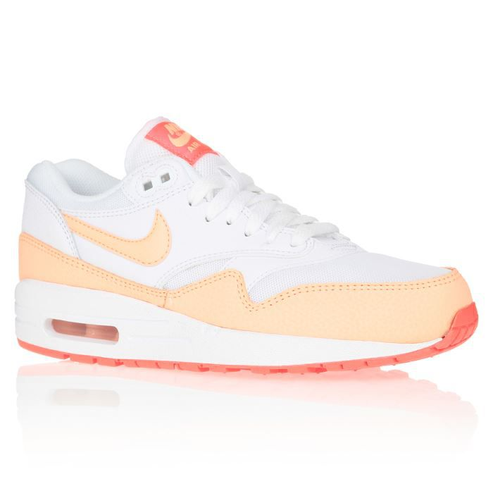 outlet store sale 98e2b 6a251 NIKE Baskets Air Max 1 Chaussures Femme Blanc et orange - Achat ...