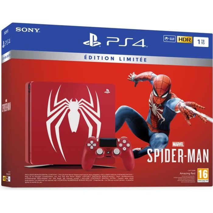 CONSOLE PS4 PS4 1 To Rouge Marvel's Spider-Man Limited Edition