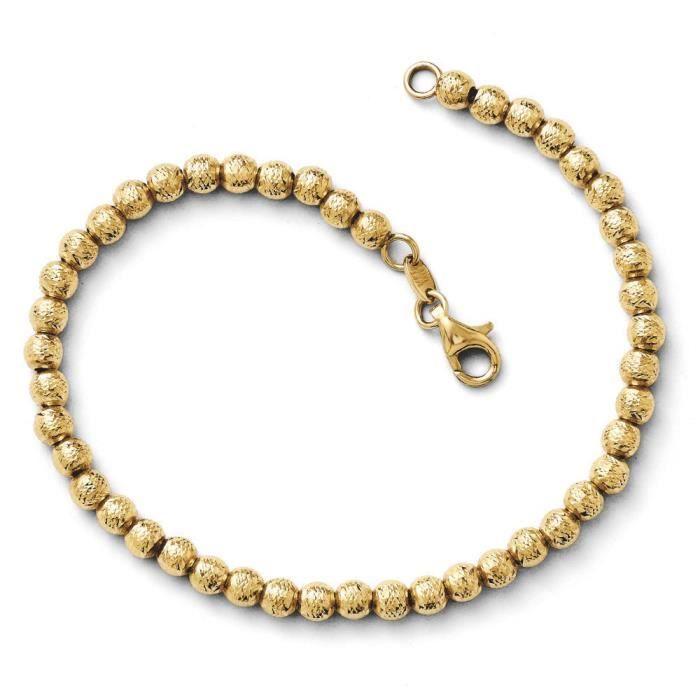14 carats-Diamant-cut Bracelet à perles-- 18,4 cm