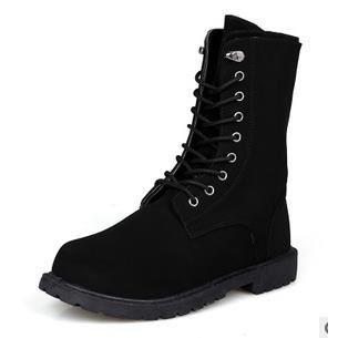 Automne Bottes à fond chaussures élevées version coréenne de chaussures pour les hommes britanniques, noir 44