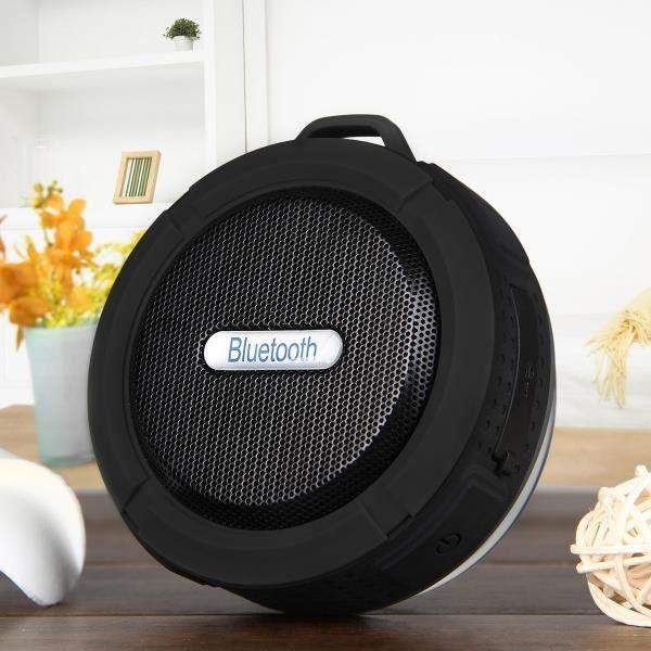 Étanche Bluetooth 3.0 Extérieur Haut-parleur / Douche Portable Sans Fil Et Microphone Intégré Mousqueton Ventouse - Noir