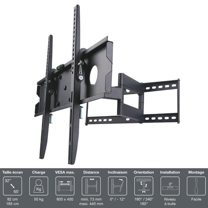FIXATION - SUPPORT TV INOTEK PRO M1 3265 Support TV mural - Pour TV 32""