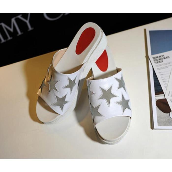 Summer Fashion Star Motif Mesh semelle paisse P...