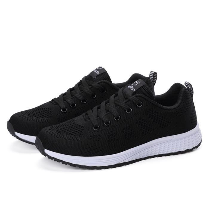 Sneakers Confortable gris Durable Poids rose Femme Exquis Noir Basket Chaussures Qualité Léger Classiqueloisirs Supérieure SxpAqnFw1C