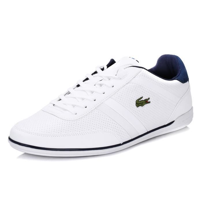 Lacoste Homme White Giron SNM Cuir Baskets