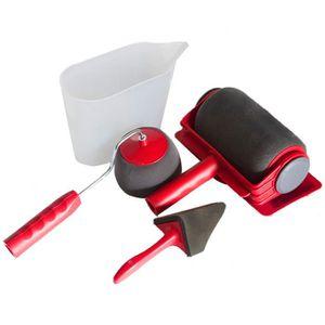 ROULEAU DE PEINTURE Ensemble de brosse à rouleau de peinture, 5Pcs Kit