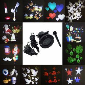 PROJECTEUR LASER NOËL LED Paysage Lumières 12 Pattern Projector Hallowee