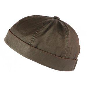 6492cd535e BONNET - CAGOULE Bonnet docker Marron Vintage en Coton Aussie Appar
