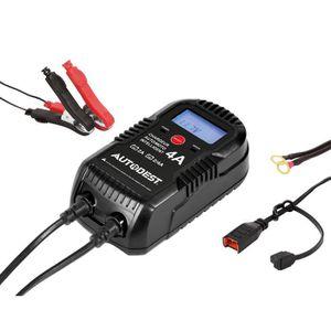 CHARGEUR DE BATTERIE AUTOBEST Chargeur Automatique 6/12V 4A avec Access
