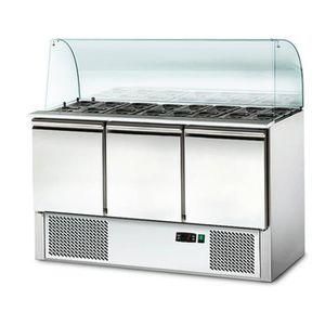ARMOIRE RÉFRIGÉRÉE Saladette professionnelle en inox / buffet froid /