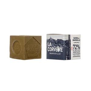 MOUSSE À RASER - GEL Savon de Marseille Olive 300g Cube de 300g,