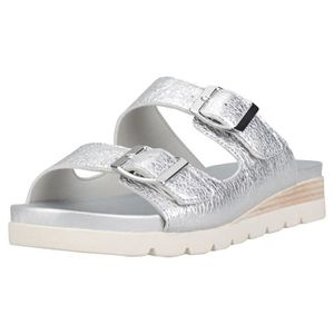 SLIP-ON Caprice Double Strap Slip-on Cracked Femmes Sandal ... 6502deb67416