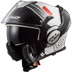CASQUE MOTO SCOOTER LS2 FF399 VALIANT PROX BLANC ROUGE