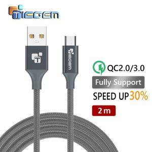 CÂBLE TÉLÉPHONE 2m Câble Micro USB 2.0 en 5V2.5A Nylon Fast Charge