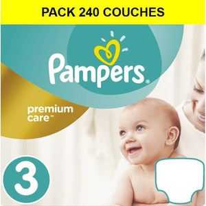 COUCHE Pampers Taille 3 - Premium Protection - 5 à 9 kg -