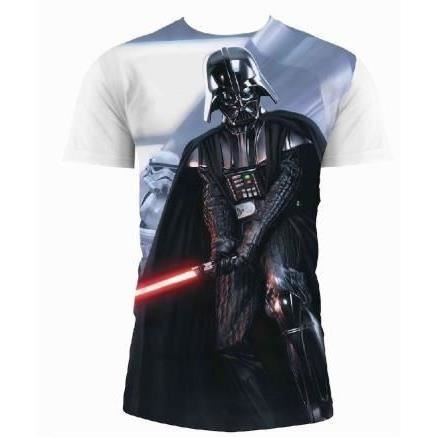 STAR WARS T-shirt Vader And Stormtrooper Blanc Homme