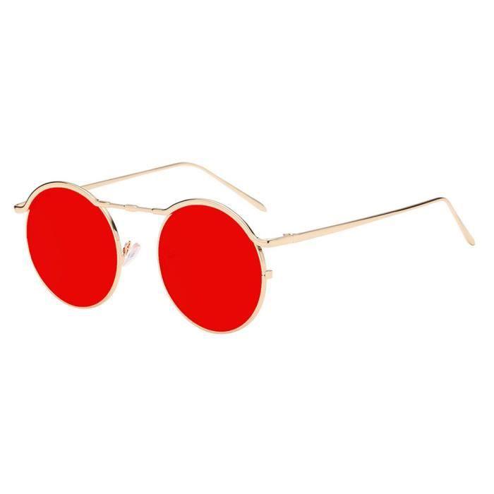 Deuxsuns® Femmes Unisexe Mode Ronds Lunettes Acétate Cadre Lunettes UV Lunettes de soleil@zf861