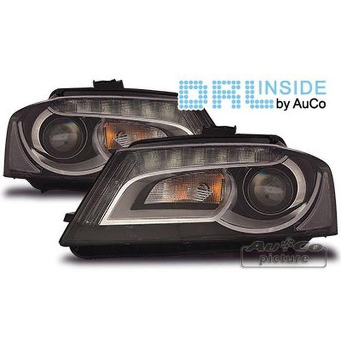 PHARES - OPTIQUES Paire de feux phares avant LTI pour Audi A3 8P Xen