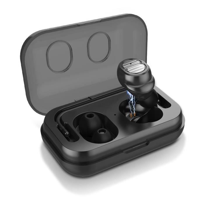 CASQUE - ÉCOUTEURS Écouteurs Bluetooth sans fil Mini casque avec comm