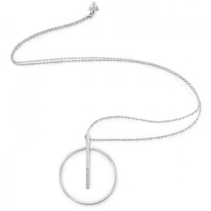 collier et pendentif guess ubn84058 - collier et pendentif métal argent femme