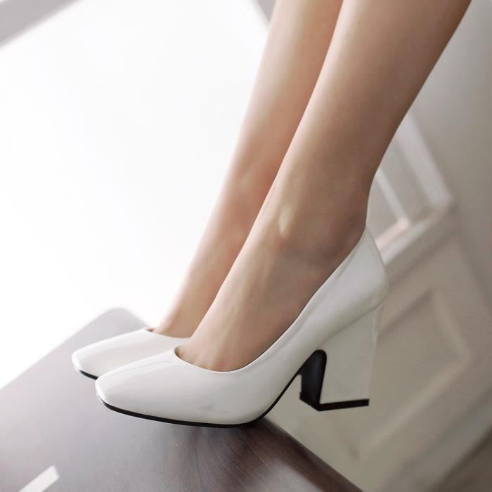 Nouvelles pointues femmes orteil noir talons 8cm chaussures fines chaussures de soirée WH20xwai