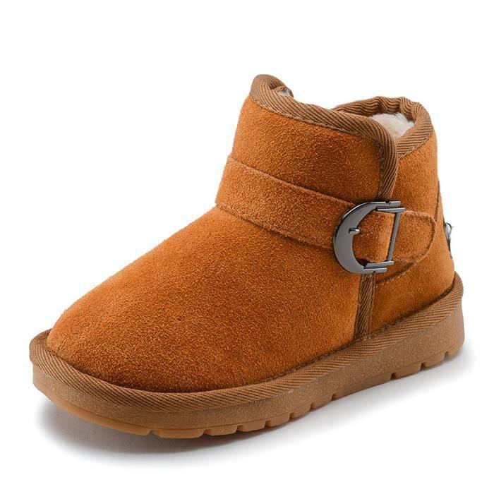 Enfants Chaussures Bottes Bébé Garçon filles Mode Bottes de neige