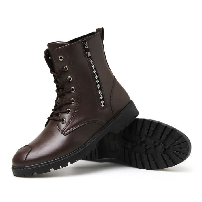 Bottes homme Bottes chaudement Bottes hiver Bottes mode Bottes étanches Bottes en cuir Bottes à crampons Bottes confortables yl6cFZYN