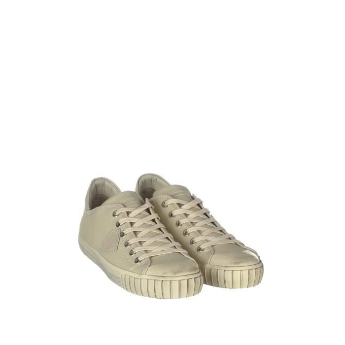 PHILIPPE MODEL HOMME GRLUCB05 BEIGE COTON BASKETS