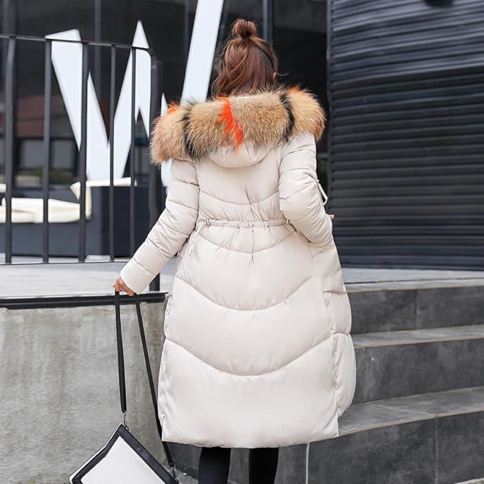 Slim Fourrure À Épais Capuchon Femmes Manteau Long En Les D'hiver Veste Qe3918 Chaud Fausse wnqYUXza