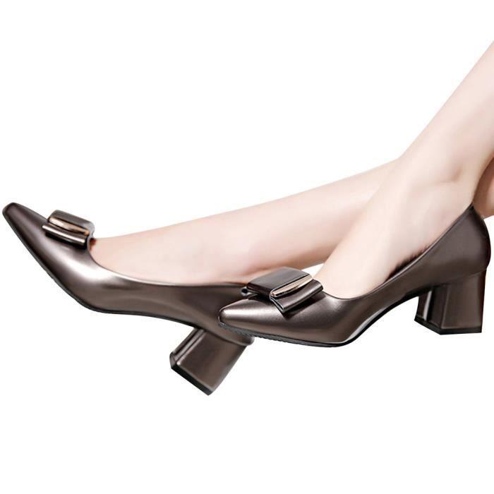 Femme Sexy Escarpin de Noeud Papillon Chaussure de Ville Business